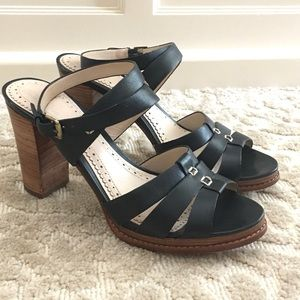 Brooks Brothers Navy Strappy Heels